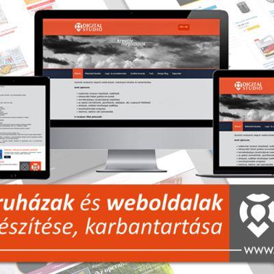 Webáruházak, webshop rendszerek  készítése, a tervezéstől a kivitelezésig