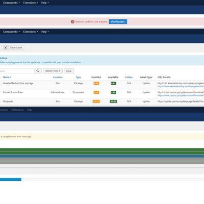 Joomla weboldalak rendszeres karbantartása, frissítése
