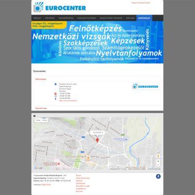 Az eurocenter.ro weboldal átalakítása