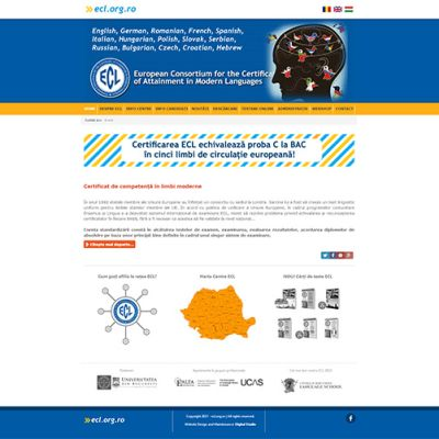 Az ecl.org.ro weboldal átalakítása