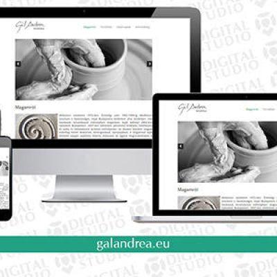 Gál Andrea keramikus számára készítettünk új weboldalt