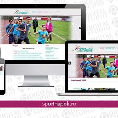 Korszerű, reszponzív weboldal a sepsiszentgyörgyi Sportnapoknak
