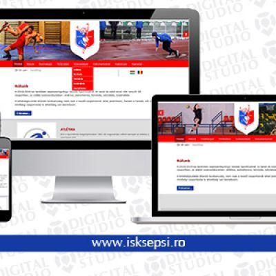 Modern weboldal a Sepsiszentgyörgyi Iskolás Sportklub számára