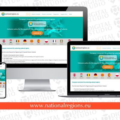 Újraterveztük és megújítottuk a Nemzeti régiók weboldalát
