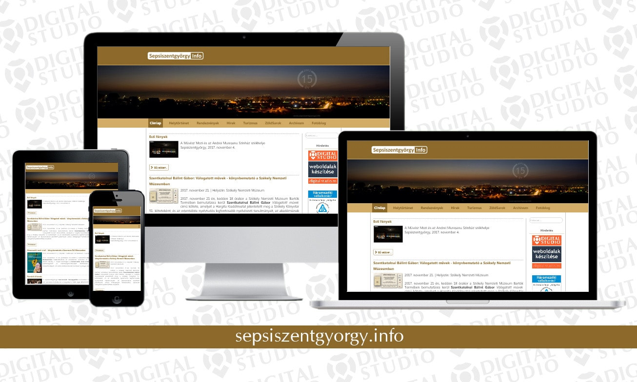 sepsiszentgyorgy.info - design si dezvoltare website Digital Studio