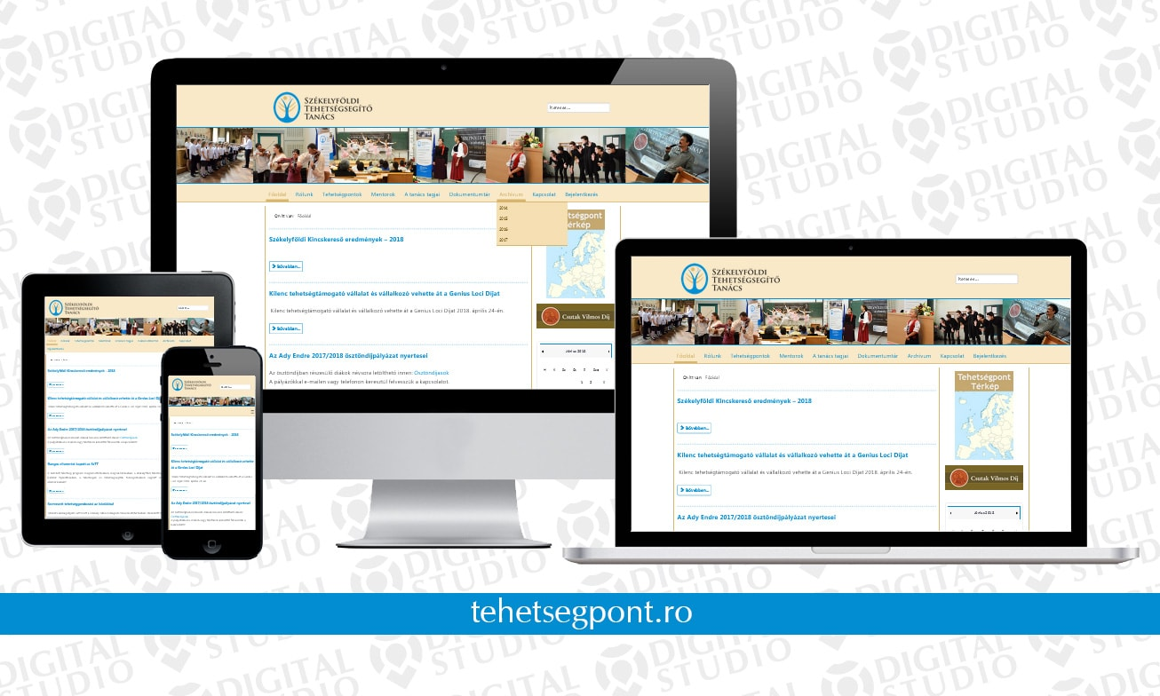 tehetsegpont.ro -design si dezvoltare website Digital Studio