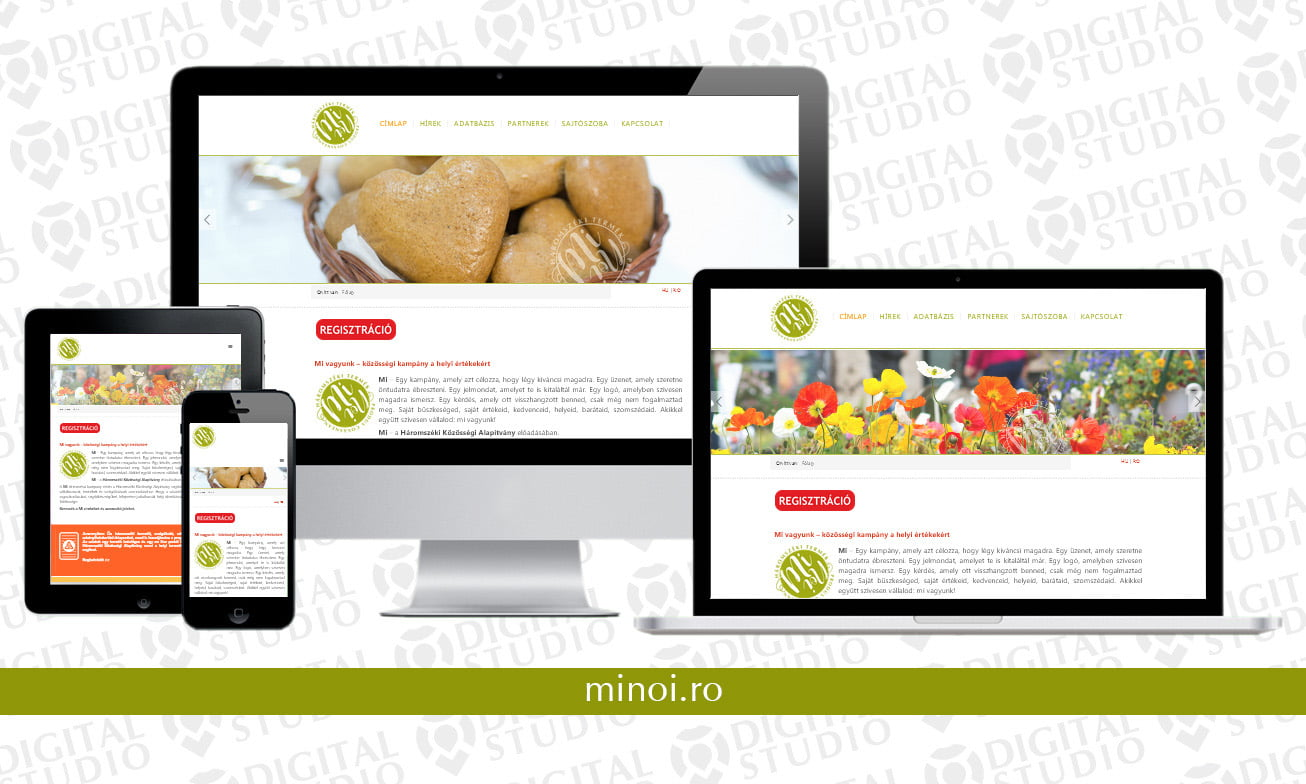 minoi.ro - design si dezvoltare website Digital Studio
