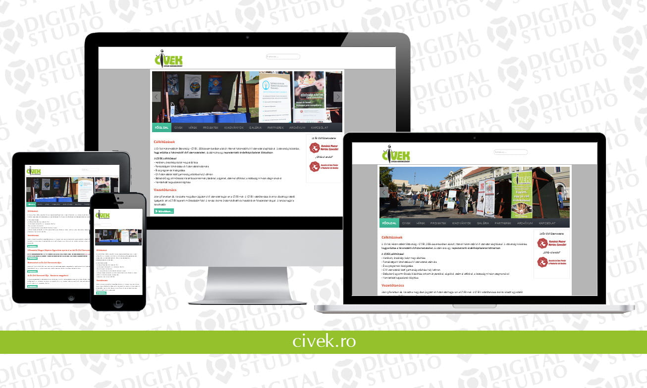 civek.ro - design si dezvoltare website Digital Studio
