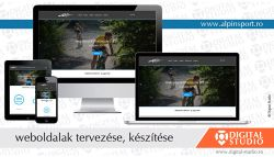 Alpinsport Egyesület weboldala - webdesign Digital Studio